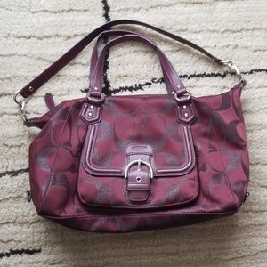 Coach Signature Bag- Excellent Condition!